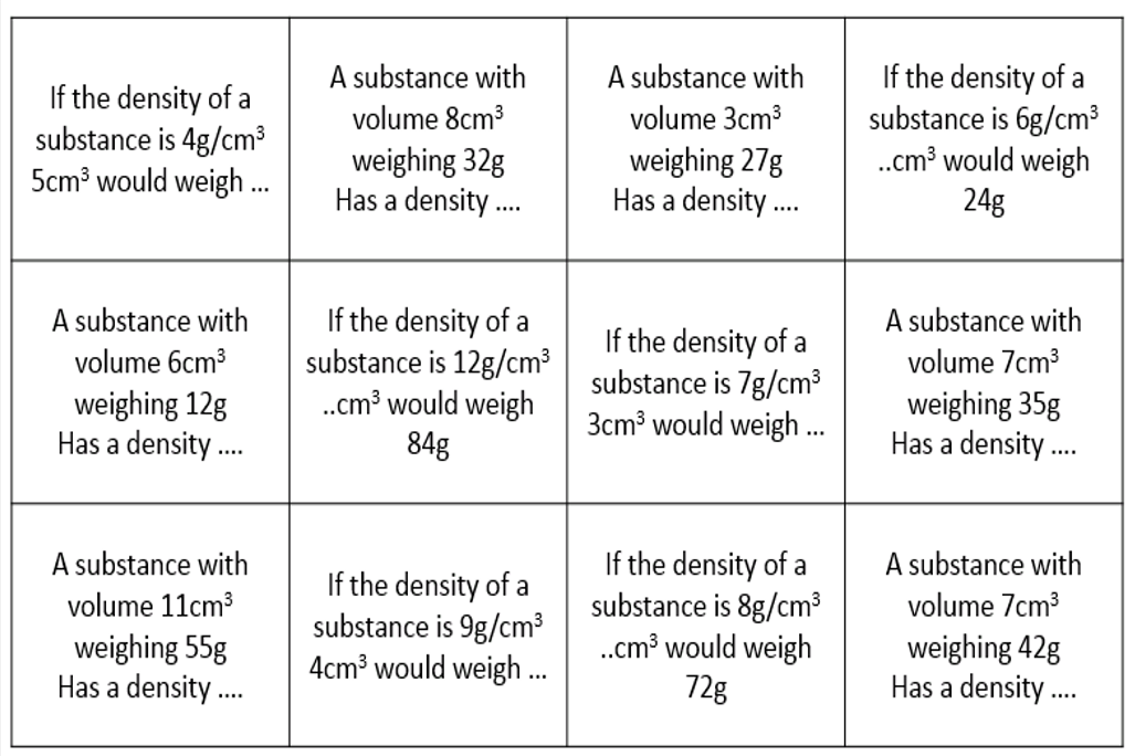 density 3